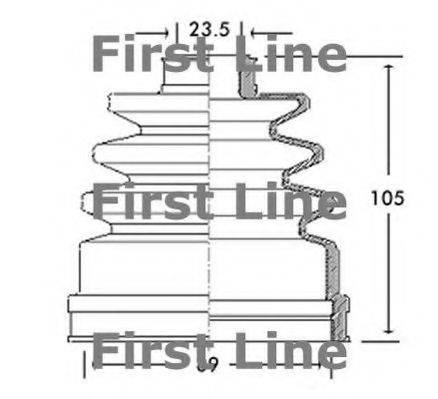 FIRST LINE FCB2609 Пыльник, приводной вал