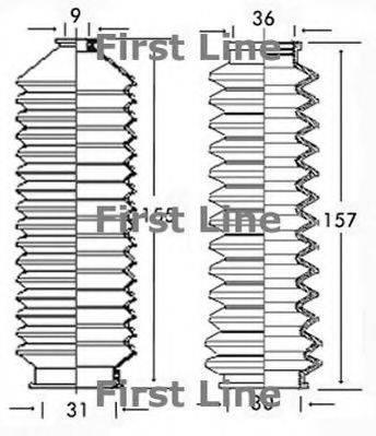 FIRST LINE FSG3133 Пыльник, рулевое управление