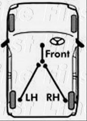 FIRST LINE FKB1466 Трос, стояночная тормозная система