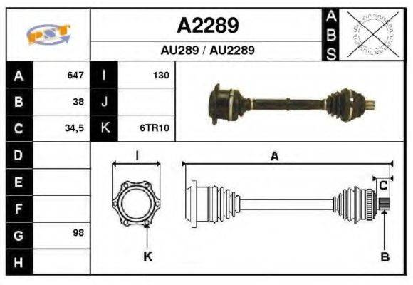SNRA A2289 Приводной вал