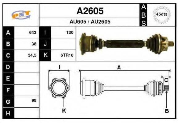 SNRA A2605 Приводной вал