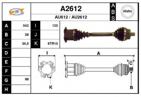 SNRA A2612 Приводной вал