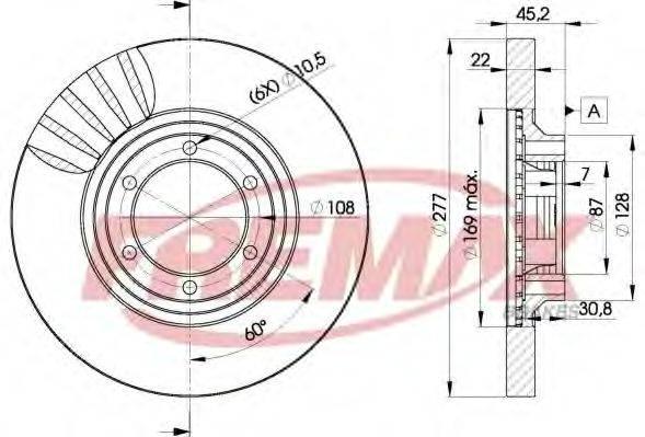 FREMAX BD7038 Тормозной диск