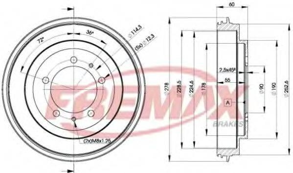 FREMAX BD7040 Тормозной барабан