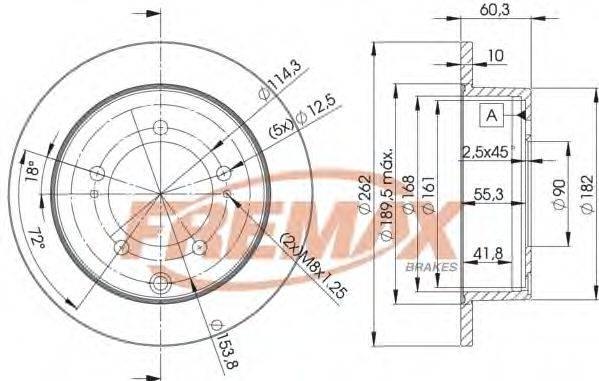 FREMAX BD8326 Тормозной диск