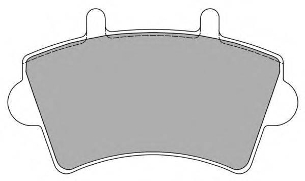 FREMAX FBP1224 Комплект тормозных колодок, дисковый тормоз