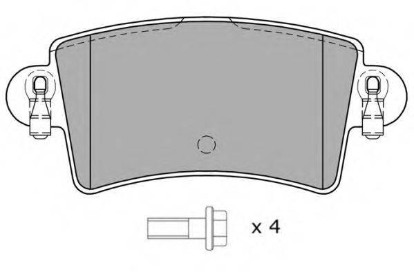 FREMAX FBP1275 Комплект тормозных колодок, дисковый тормоз