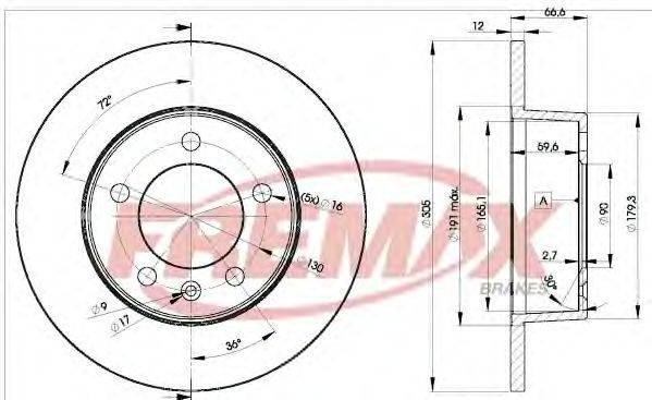 FREMAX BD1410 Тормозной диск