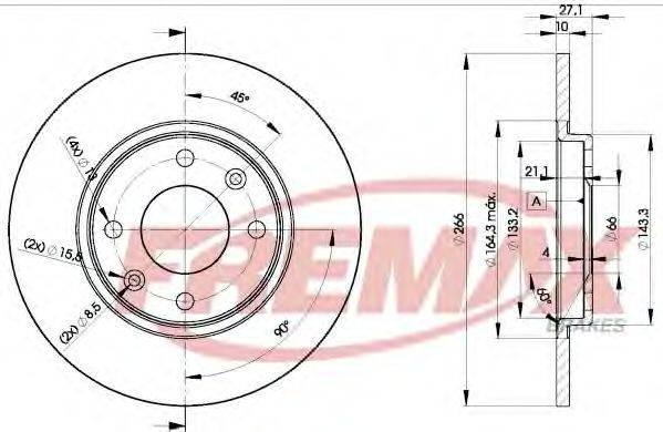 FREMAX BD4688 Тормозной диск