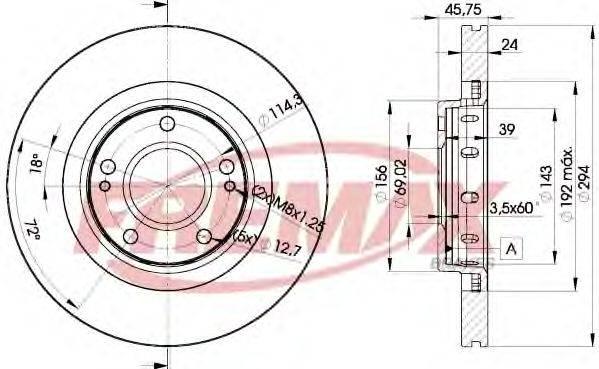 FREMAX BD5924 Тормозной диск