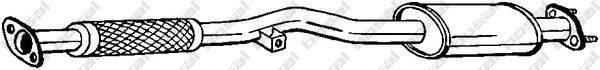 BOSAL 145957 Предглушитель выхлопных газов