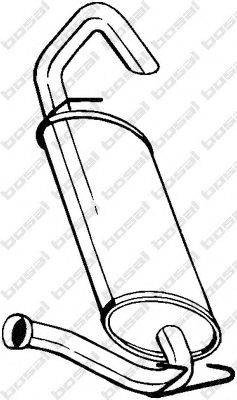 BOSAL 279751 Глушитель выхлопных газов конечный