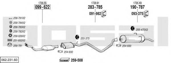 BOSAL 06223160 Система выпуска ОГ