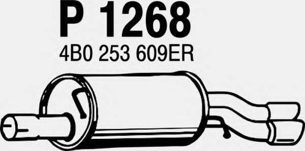 FENNO P1268 Глушитель выхлопных газов конечный