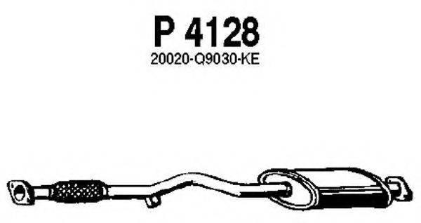 FENNO P4128 Средний глушитель выхлопных газов