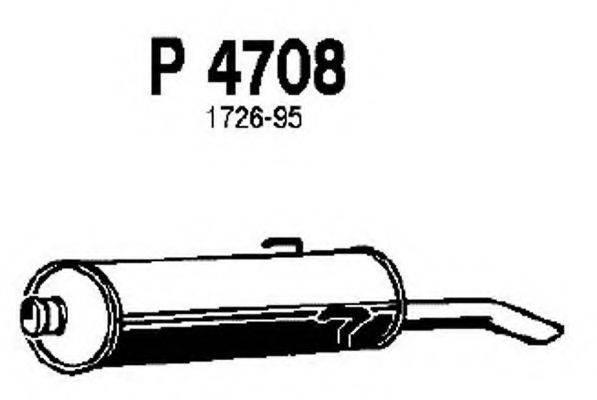 FENNO P4708 Глушитель выхлопных газов конечный