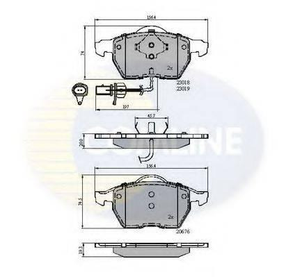 COMLINE CBP11542 Комплект тормозных колодок, дисковый тормоз