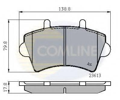 COMLINE CBP01035 Комплект тормозных колодок, дисковый тормоз