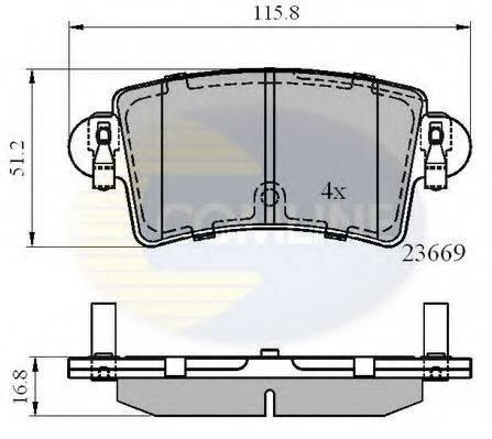 COMLINE CBP01036 Комплект тормозных колодок, дисковый тормоз
