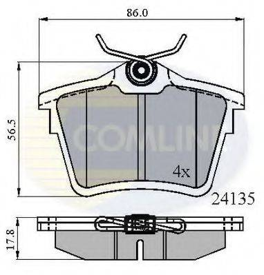 COMLINE CBP01252 Комплект тормозных колодок, дисковый тормоз