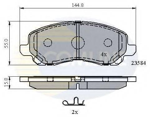 COMLINE CBP31256 Комплект тормозных колодок, дисковый тормоз