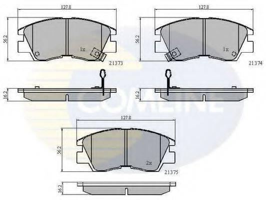 COMLINE CBP3295 Комплект тормозных колодок, дисковый тормоз