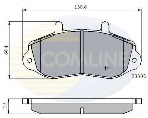 COMLINE CBP01021 Комплект тормозных колодок, дисковый тормоз