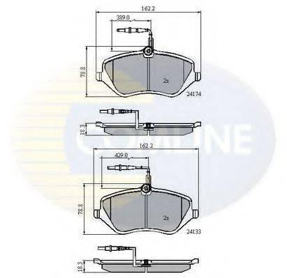 COMLINE CBP11251 Комплект тормозных колодок, дисковый тормоз