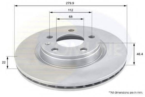 COMLINE ADC1412V Тормозной диск