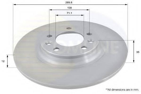 COMLINE ADC1551 Тормозной диск