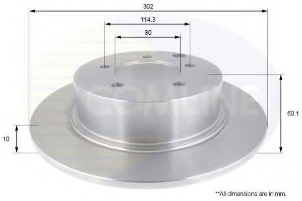 COMLINE ADC2722 Тормозной диск