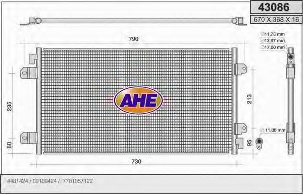 AHE 43086 Конденсатор, кондиционер