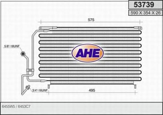 AHE 53739 Конденсатор, кондиционер