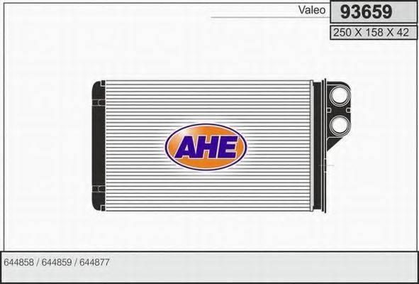 AHE 93659 Теплообменник, отопление салона