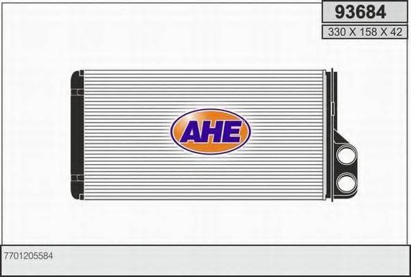 AHE 93684 Теплообменник, отопление салона