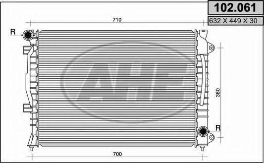 AHE 102061 Радиатор, охлаждение двигателя