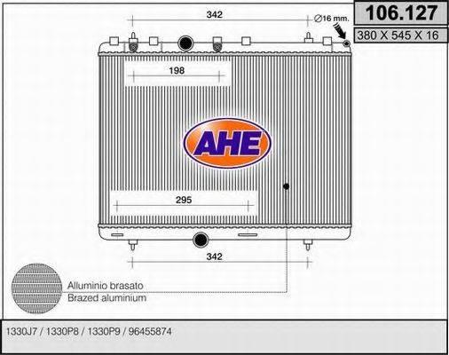 AHE 106127 Радиатор, охлаждение двигателя