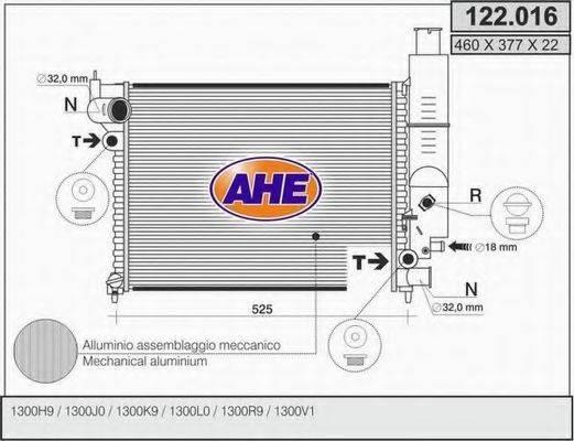 AHE 122016 Радиатор, охлаждение двигателя