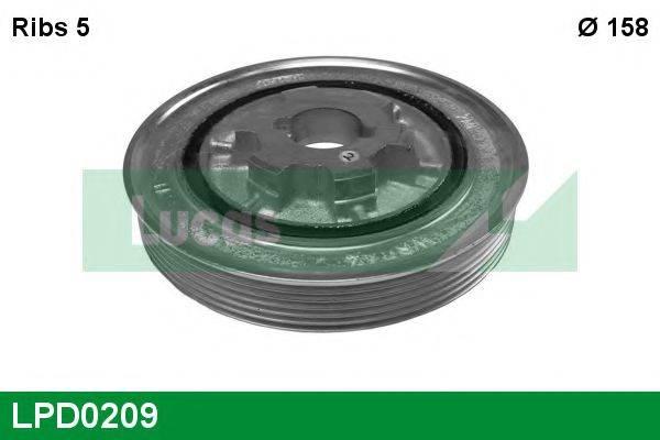 LUCAS ENGINE DRIVE LPD0209 Ременный шкив, коленчатый вал