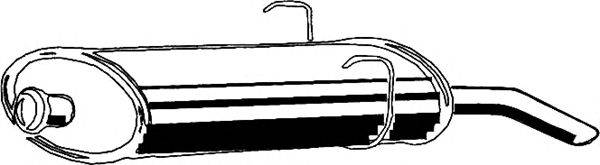 ASMET 08002 Глушитель выхлопных газов конечный
