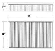 CHAMPION U543606 Воздушный фильтр