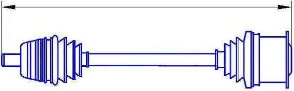 SERCORE 121002 Приводной вал
