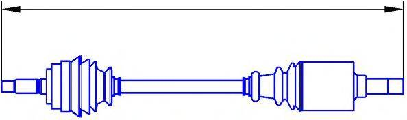 SERCORE 12720 Приводной вал