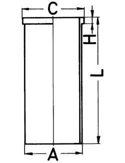 KOLBENSCHMIDT 89502190 Гильза цилиндра