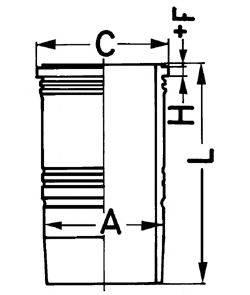 KOLBENSCHMIDT 89186110 Гильза цилиндра