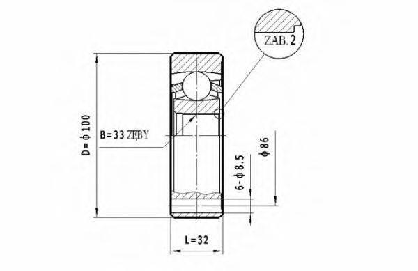 STATIM CW046 Шарнирный комплект, приводной вал