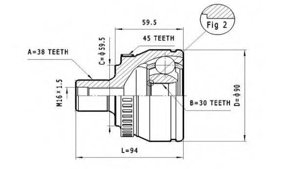 STATIM C290 Шарнирный комплект, приводной вал