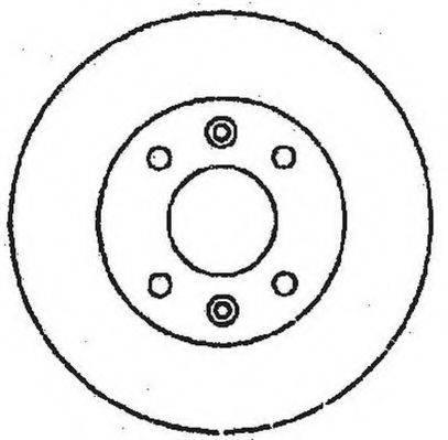 STOP 561411S Тормозной диск
