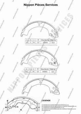 NPS M350I01 Комплект тормозных колодок