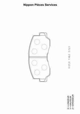 NPS M360I02 Комплект тормозных колодок, дисковый тормоз